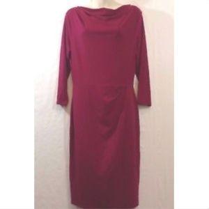 Ann Taylor Long Sleeve Dress Pink Size 8